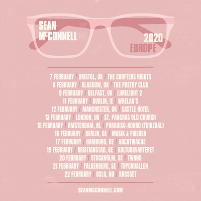 SEAN McCONNELL ANNOUNCES UK & EUROPEAN HEADLINE SHOWS IN FEBRUARY 2020