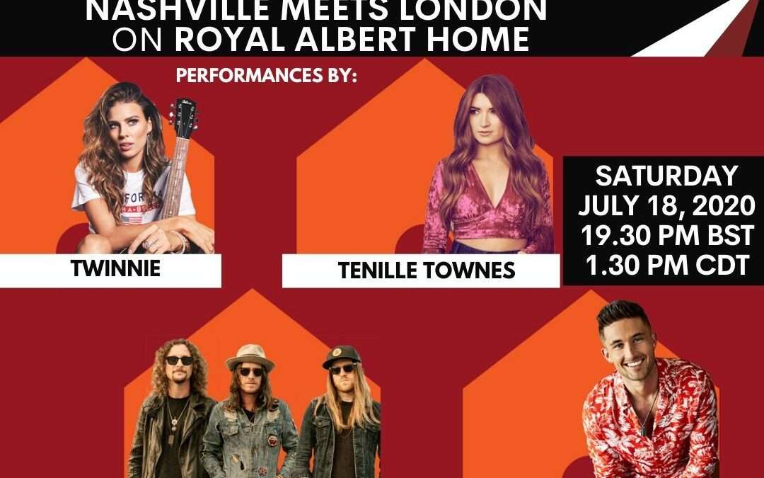 Royal Albert Hall and Nashville Meets London Partner for Virtual Country Concert Event on July 18
