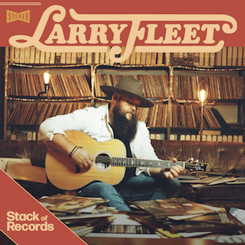 LARRY FLEET PUTS HIS STACK OF RECORDS ON TODAY